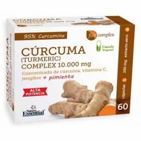 CURCUMA CON JENGIBRE Y PIMIENTA 10000mg 60cap NATURE ESSENTIAL Suplementos nutricionales 22,95€