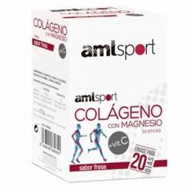 COLAGENO CON MAGNESIO + VITAMINA C 20sb AMLSPORT Nutrición Deportiva 8,50€
