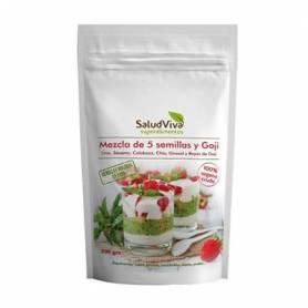MEZCLA 5 SEMILLAS Y GOJI 200g SALUD VIVA Suplementos nutricionales 5,71€