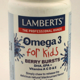 OMEGA 3 FOR KIDS 100cap LAMBERTS Suplementos nutricionales 27,08 €