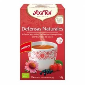 DEFENSAS NATURALES Infusión BIO 17ud YOGI TEA Plantas Medicinales 3,33€