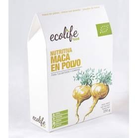 MACA EN POLVO NUTRITIVA BIO 250g ECOLIFE FOOD Suplementos nutricionales 17,15€