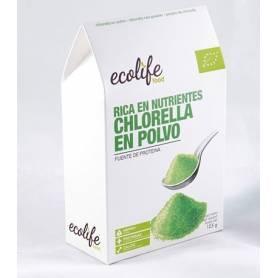 CLORELLA EN POLVO RICA EN NUTRIENTES BIO 125g ECOLIFE FOOD Suplementos nutricionales 9,94€
