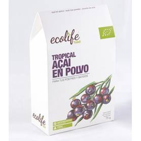 AÇAI EN POLVO TROPICAL BIO 75g ECOLIFE FOOD