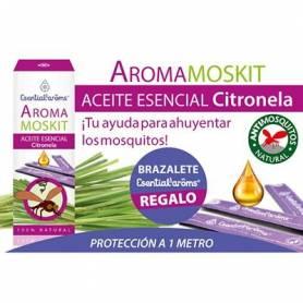 PACK AROMAMOSKIT BRAZALETE 15ml ESENTIAL AROMS Parafarmacia 13,40€