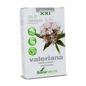 34-S VALERIANA Fórmula XXI 30cap SORIA NATURAL Suplementos nutricionales 9,18€