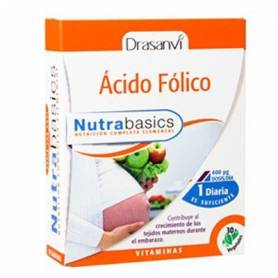 NUTRABASICS ACIDO FOLICO 386mg 30cap DRASANVI Ácido Fólico 6,22€