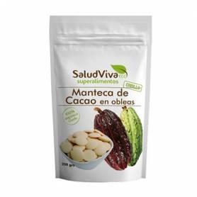 MANTECA DE CACAO EN OBLEAS ECO 250g SALUD VIVA Suplementos nutricionales 9,27€