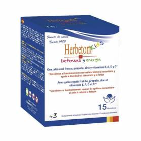 HERBETOM KIDS DEFENSAS Y ENERGÍAS 15 MONODOSIS BIOSERUM