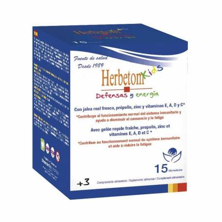 HERBETOM KIDS DEFENSAS Y ENERGÍAS 15 MONODOSIS BIOSERUM Multivitaminas para Niños 14,03 €