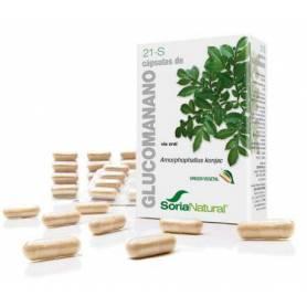 21-S glucomanano 60cap SORIA NATURAL Suplementos nutricionales 12,22€