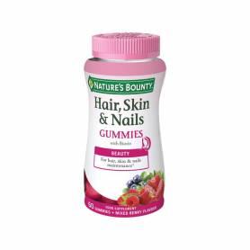 Pelo, piel y uñas 60 gummies. NATURE'S BOUNTY Suplementos nutricionales 17,96€