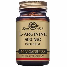 L-Arginina 500 mg. 50 cápsulas vegetales