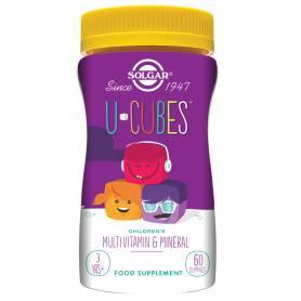 U-CUBES. 60 gominolas masticables para niños