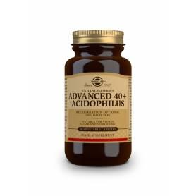40+ Plus acidophilus avanzado (no lácteo). 60 cápsulas vegetales