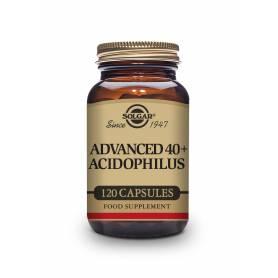 40+ Plus acidophilus avanzado (no lácteo). 120 cápsulas vegetales