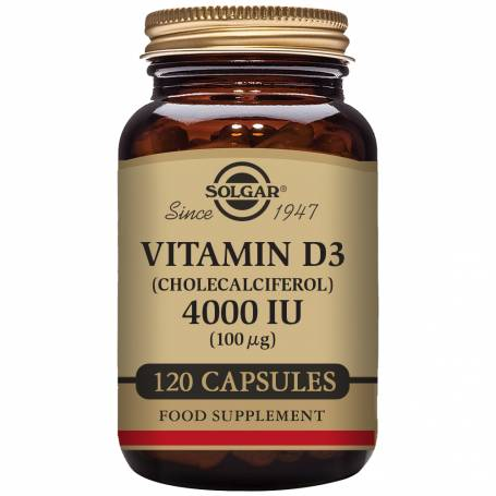 Vitamina D3 4000 UI (100 µg) (Colecalciferol) 120 cápsulas vegetales