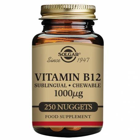 Vitamina B12 1.000 µg (Cianocobalamina) 250 comprimidos masticables