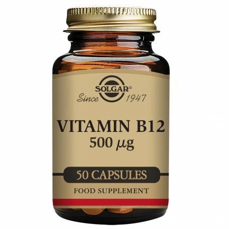 Vitamina B12 500 µg (Cianocobalamina) 50 cápsulas vegetales