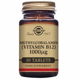 Vitamina B12 1.000 µg (Metilcobalamina) 30 comprimidos masticables