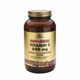 Vitamina C 500 (sabor natural de frambuesa). 90 comprimidos masticables