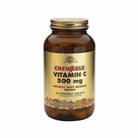 Vitamina C 500 (sabor natural de naranja). 90 comprimidos masticables