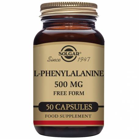 L-Fenilalanina 500 mg. 50 cápsulas vegetales