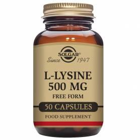 L-Lisina 500 mg. 50 cápsulas vegetales