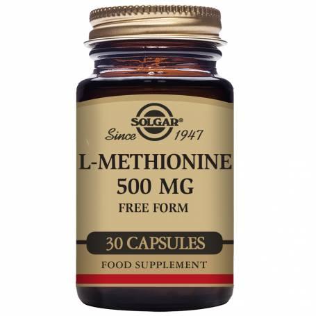 L-Metionina 500 mg. 30 cápsulas vegetales