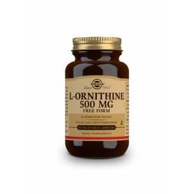 L-Ornitina 500 mg. 50 cápsulas vegetales