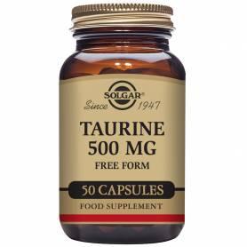Taurina 500 mg. 50 cápsulas vegetales