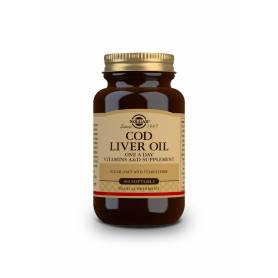 Aceite de hígado de bacalao (Una-al-día). 100 cápsulas blandas