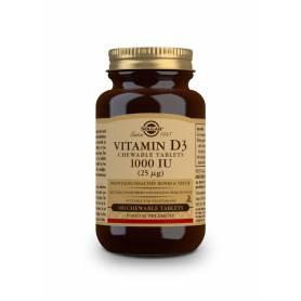 Vitamina D3 1000 UI (25 µg) (Colecalciferol). 100 comprimidos masticables