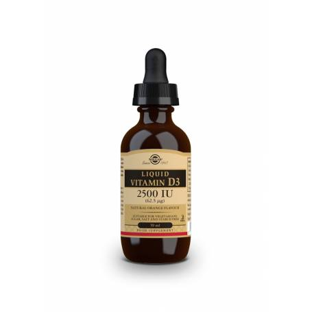 Vitamina D3 Líquida 2500 UI (62,5 µg). 59 ml. sabor naranja