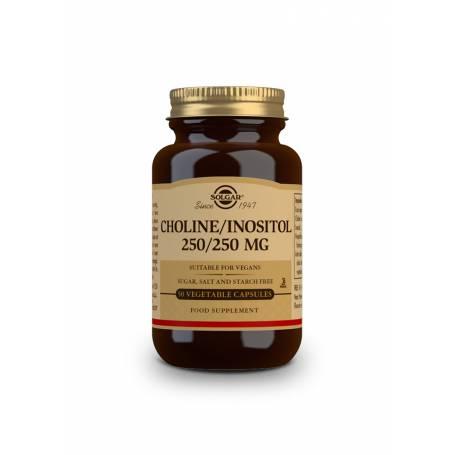 Colina / Inositol. 250 / 250 mg. 50 cápsulas vegetales