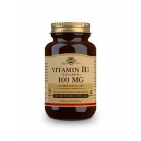 Vitamina B1 100 mg (Tiamina). 100 cápsulas vegetales