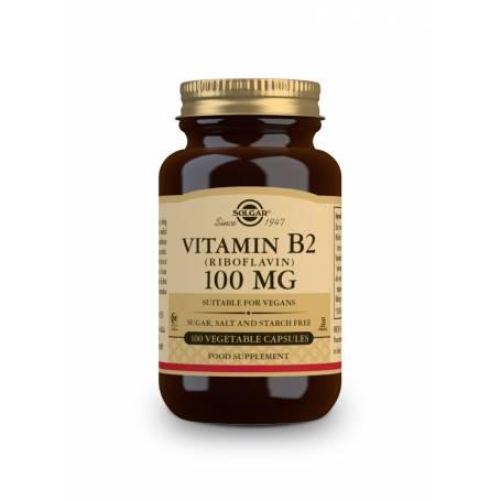 Vitamina B2 100 mg (Riboflavina). 100 cápsulas vegetales