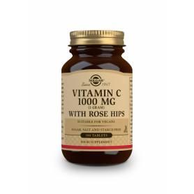 Vitamina C Rose Hips 1000 con escaramujo. 100 comprimidos