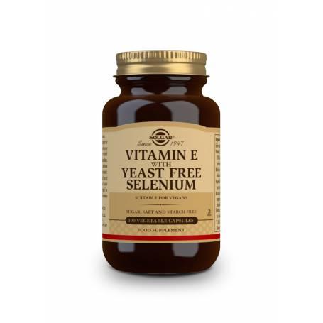 Vitamina E con Selenio (sin levadura). 100 cápsulas vegetales