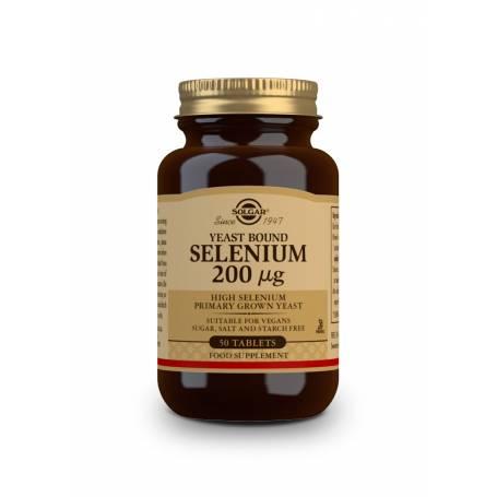 Selenio en Levadura 200 µg. 50 comprimidos