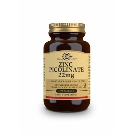 Zinc Picolinato 22 mg. 100 comprimidos