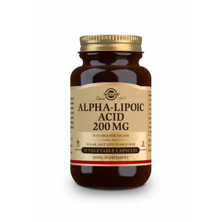 Ácido Alfa Lipoico 200 mg. 50 cápsulas vegetales
