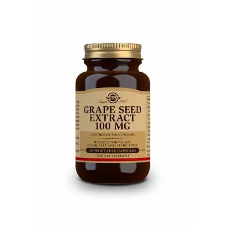 Extracto de semilla de uva 100 mg. 30 cápsulas vegetales