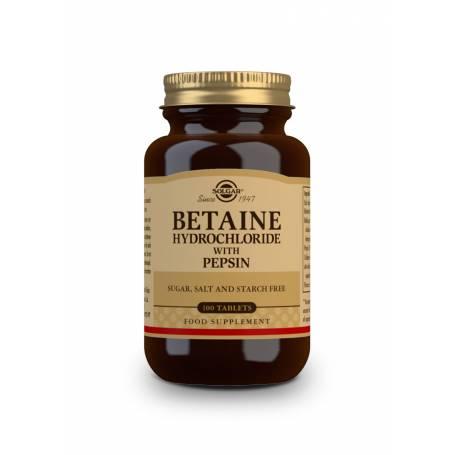 Betaína Clorhidrato con Pepsina. 100 comprimidos