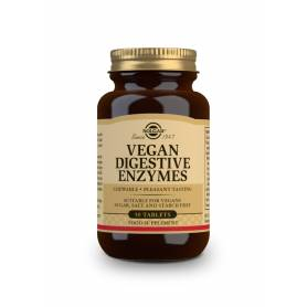 Vegan enzimas digestivas. 50 comprimidos masticables