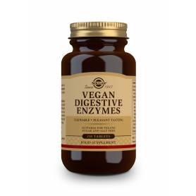 Vegan enzimas digestivas. 250 comprimidos masticables