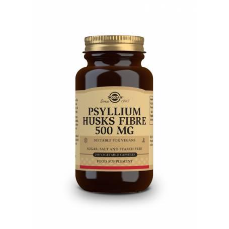 Fibra de Cáscara de Psyllium 500 mg. 200 cápsulas vegetales