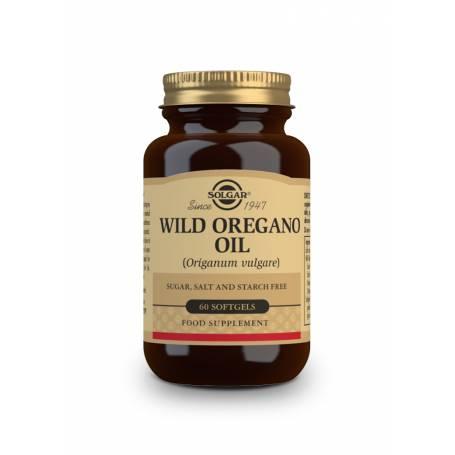 Aceite de orégano silvestre (Origanum vulgare). 60 cápsulas blandas