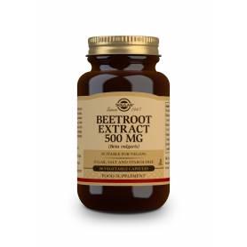 Extracto de Remolacha 500 mg (Beta vulgaris). 90 cápsulas vegetales
