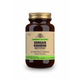 Ginseng Coreano – Extracto de Raíz – (Panax ginseng). 60 cápsulas vegetales